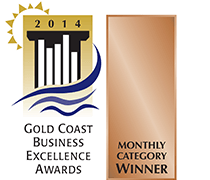 Gold Coast Business Awards Monthly Winner in 2014