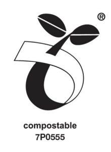 Compostable seedling logo