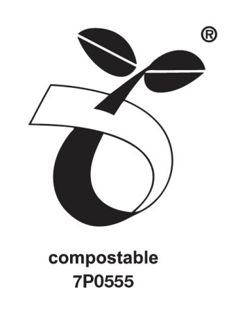 Compostable seedling logo
