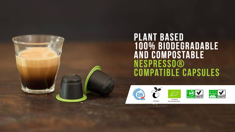 Plant Based Biodegradable and Compostable Coffee Capsules
